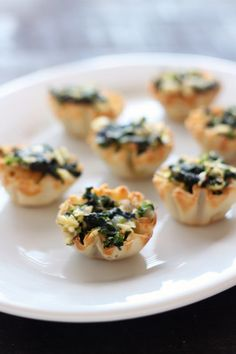 Spanakopita Bites are a super easy appetizer version of the classic Greek dish and can even be made completely ahead of time!