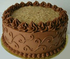 Pretty German Chocolate Cake