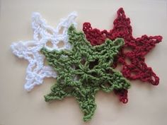 Free Crochet Patterns and Designs by LisaAuch: 20 + FREE Snowflake Crochet Patterns