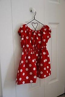 Minnie Mouse Dress tutorial