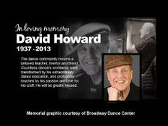 """Excerpts from a complete Ballet Class of David Howard as taught at the Broadway Dance Center in New York City. Howard was the """"Teacher of Stars."""" He died in August 2013 of complications from a stroke."""