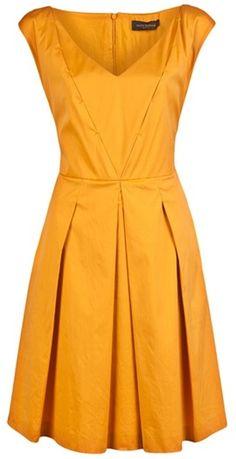 Piazza Sempione Aline Dress in Orange (saffron) Wear with a skinny gold belt or big turquoise sash!