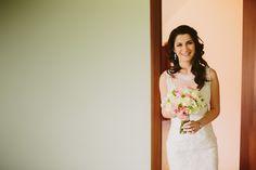 Wedding bouquet, romantic pink&white