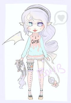 Cute Succubus Adopt by *BombPrincess on deviantART