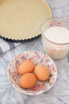 """I've used this ratio, and it seems to be a little liquidy. Based on feedback from a commenter on another quiche how-to, I've had much better luck: """"Julia Child ratio: put the eggs in a large measuring cup and add enough [cream/half & half/milk] to bring the total up to 1/2 cup per egg. So, if you used 3 eggs, you'd add enough dairy to make 1.5 cups of custard. So simple to remember and a perfect blend of dairy and egg: not too thick, not too liquid, just right."""" I also use whatever dairy I…"""