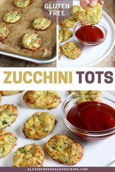 Get this tested, easy-to-follow recipe for gluten free zucchini tots. These healthy, low carb, gluten free and keto baked zucchini bites are perfect for a side or an appetizer. #GlutenFree #TaterTot #Zucchini #Appetizer Quick And Easy Appetizers, Healthy Appetizers, Healthy Foods To Eat, Easy Healthy Recipes, Easy Dinner Recipes, Gluten Free Recipes, Appetizer Recipes, Breakfast Recipes, Keto Snacks