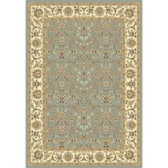 "Charlton Home Ottis Light Blue/Ivory Area Rug Rug Size: 5'3"" x 7'6"""