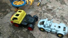 Carreata de carrinhos de brinquedo