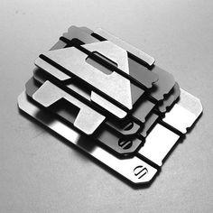 citiesocial – A3 三片鋁製卡夾(標準型) - 透銀