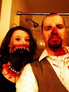 Halloween Makeup -Mouth and Zipper Face. So gross I love it. Definatly wanna do this make up for myself.- the girl dude the girl Halloween Zombie, Halloween Photos, Cool Halloween Costumes, Holidays Halloween, Halloween Make Up, Halloween Treats, Halloween Decorations, Skin Wars, Zipper Face