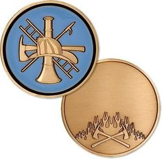 2014 Custom coin FIREFIGHTER FINRE & RESCUE ENGRAVABLE CHALLENGE COIN