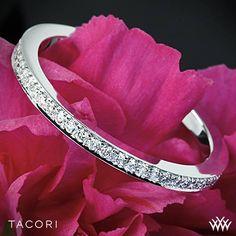 Platinum Tacori Dantela Eternity Small Pave Diamond Wedding Ring