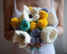 #Knitted flowers for a #wedding