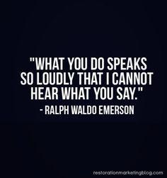 Doing vs saying
