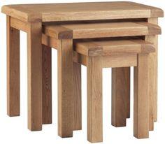 Corndell Lovell Oak Nest of Tables