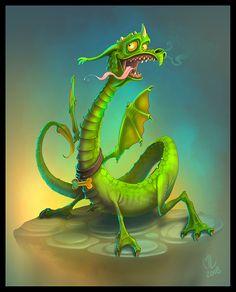 Lil Dragon by on DeviantArt Dragon Time, Dragon 2, Fantasy Dragon, Baby Dragon, Cute Fantasy Creatures, Cute Creatures, Magical Creatures, Dark Fantasy, Fantasy Art