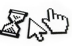 Computer hama beads - Bügelperlen Icons
