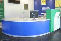 Solid Surface Reception Desk TW-PART-118