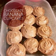 Recipe: Chocolate Banana Cupcakes with Peanut Butter Frosting http://www.twohensandtheirchicks.com/recipe-chocolate-banana-cupcakes-with-peanut-butter-frosting.html