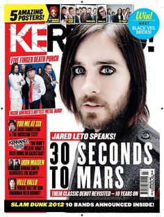 Kerrang! Magazine 15/02/12 Adrian Smith, Young Guns, Five Fingers, Black Veil Brides, Iron Maiden, Jared Leto, Metal Bands, Thirty Seconds, Rock