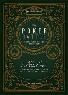 Flyer - Poster: The Poker Battle by blercstudio on DeviantArt