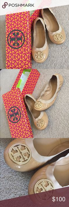 Tory Burch Flats Selling my beige Tory Burch flats. Size 9. They are in EXCELLENT condition. Purchased from Nordstrom's for $243 (with tax) and only selling them for $100 or best offer. Tory Burch Shoes Flats & Loafers