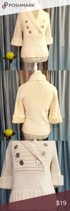🌻🌺🌻DELIA'S KNIT BOAT/SAILOR SWEATER!! SIZE:small but will fit a medium as well (mannequin is medium)   BRAND:Delia's   CONDITION:like new, no flaws (coklor best seen in last photo)   COLOR:cream   🌟POSH AMBASSADOR, BUY WITH CONFIDENCE!   🌟CHECK OUT MY OTHER ITEMS TO BUNDLE AND SAVE ON SHIPPING!   🌟OFFERS WELCOME!   🌟FAST SHIPPING! Delia's Sweaters