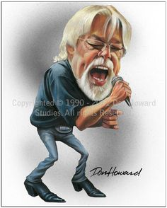 Bob Seger cartoon caricature picture poster art print by Don Howard