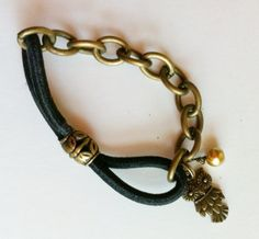 hair tie and chain bracelet, mixed kreations jewelry