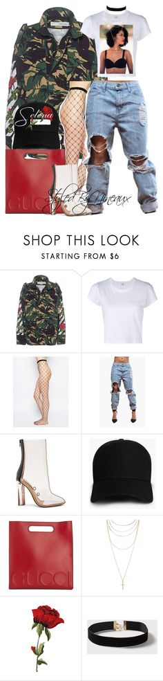"""""""V I B E S"""" by styledbynineaux ❤ liked on Polyvore featuring Off-White, RE/DONE, ASOS, adidas, Boohoo, Gucci, Forever 21 and Dorothy Perkins"""
