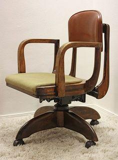 vintage gunlocke office chair