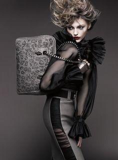 Sasha Pivovarova for Thomas Wylde Spring 2011 ad