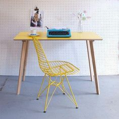 Spruce up your workspace with a handmade table that has loads of retro charm. #etsy