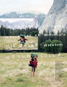 visual optimism; fashion editorials, shows, campaigns & more!: yosemite camp: dree hemingway by matt jones for elle italia august 2014