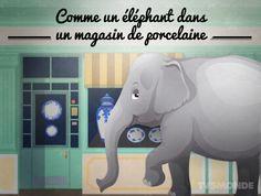 French idioms: comme un éléphant dans un magazin de porcelaine - как слон в посудной лавке