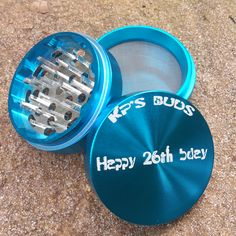 Turquoise Sharp-Tooth Custom Herb Grinders. This smoking accessory is one of the most badass top shelf grinders in the cannabis industry today to make your own grinder