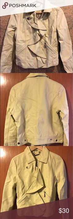 Jou Jou - Faux Leather Jacket • Full-Zip Front • Two front zipper pockets • Only worn once • In perfect condition! Jou Jou Jackets & Coats Utility Jackets