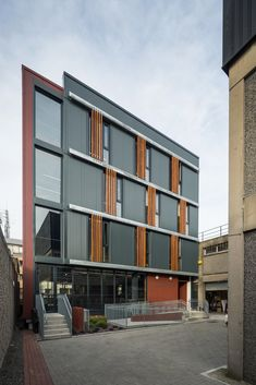 Cooney Architects _ Kilmainham Office and Training Centre _ 2018 _ Dublin _ Facade Commercial Architecture, Training Center, Dublin, Architects, Facade, Centre, Irish, Multi Story Building, Exterior