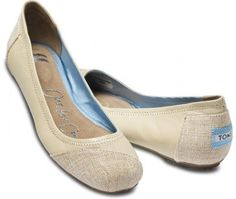 """TOMS """"Allesandra"""" burlap ballet flat. Great for my wedding hike up the hill!"""