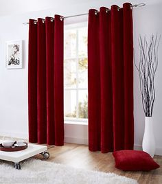 Venice red deep pile velvet #58x72 ring top #fully lined curtains ##tevlev *as*,  View more on the LINK: http://www.zeppy.io/product/gb/2/390743964492/