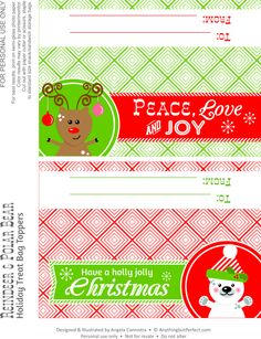 Printable Christmas Bag Toppers! What an awesome site with lots of free stuff!!!