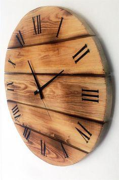 Ahşap Yakma Duvar Saati tasarımcı Yasin YÜCEL tasarımı