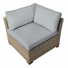 Sol 72 Outdoor Rochford 5 Piece Rattan Sofa Seating Group with Cushions Cushion Color: Beige Outdoor Sofa Sets, Outdoor Wicker Furniture, Outdoor Areas, Outdoor Lounge, Wood Patio Chairs, Patio Seating, 3 Piece Sofa, Rattan Sofa