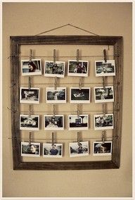 Black & white pictures on wooden pins<3