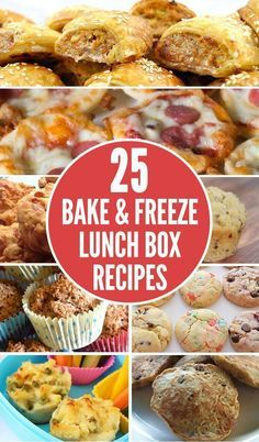 Save precious time on school mornings with these 25 Easy Bake and Freeze Lunch B. Save precious time on school mornings with these 25 Easy Bake and Freeze Lunch Box Recipe Ideas Kids Will Love Lunch Box Bento, Lunch Snacks, Clean Eating Snacks, Healthy Snacks, Healthy Recipes, Healthy Kids, Box Lunches, Snack Box, Dinner Healthy