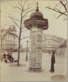 Eugène Atget (French, 1857-1927), Colonne Morris, place Denfert-Rochereau, 14ème, Paris, 1898.