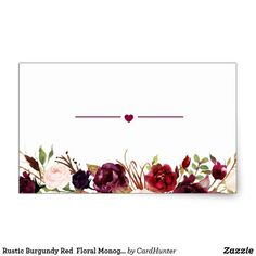 Rustic Burgundy Red Floral Monogram Wedding Favor Classic Round Sticker Zazzle com is part of Monogram wedding favors Shop Rustic Burgundy Red Floral Monogram Wedding Favor Classic Round Sticker - Wedding Favours Thank You, Wedding Invitations, Flower Frame, Flower Art, Invitation Background, Floral Save The Dates, Flower Logo, Wedding Background, Picture Logo