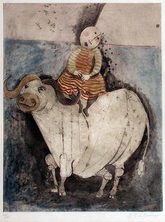 Graciela Rodo Boulanger - Filles sur un Taureau