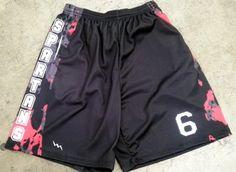 Youth Maryland Flag Funky Pattern Lacrosse Shorts Youth Black