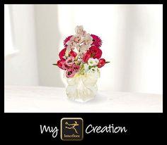 I've created this using My Interflora Creation – what will you create? for a Persian wedding Dark Purple Flowers, Enchanted Garden Wedding, Persian Wedding, Oriental Lily, Gerber Daisies, Cymbidium Orchids, Wedding Goals, My Flower, Flower Arrangements